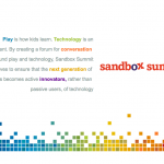Sandbox Summit Landing Page